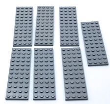*NEW* Lego Light Grey 1x8 Stud Flat Plates Thin Rim Houses Buildings 4 pieces