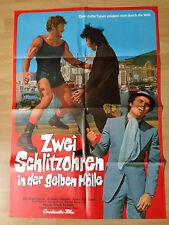 Filmposter * Kinoplakat * A1 * Zwei Schlitzohren in der gelben Hölle * EA 1974