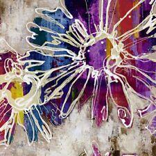 Wand Bild Marilyn Bridges Botanik Blumen Malerei Bunt 59x59x1,2 cm D1HW