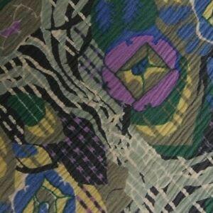 Vintage Silver Black Purple Floral VENTURI Silk Tie