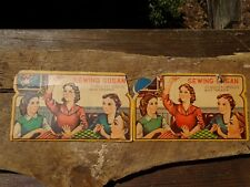 Rare Vintage Sewing Susan Gold Eye Needles England 78 Needles Pretty Graphics