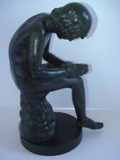 19th Century Nisini Foundry Italian Bronze Statue Of Boy Pulling Thorn From Foot
