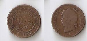 Chile  2 1/2 centavos 1898 Dos i medio