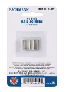 Bachmann HO Scale 44499 Nickel Silver Rail Joiners 36 Pieces