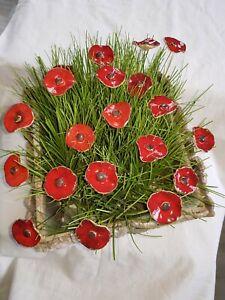 Keramik Blumen,20 Stück, Blüten Stecker, Muttertag Geschenk , Handgemacht