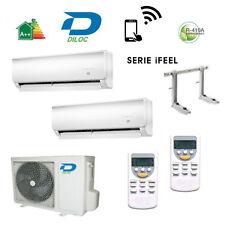 AIR CONDITIONING DUAL SPLIT DILOC INVERTER 9+12 A+ COMPRESSOR SHARP /PANASONIC