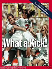 1999 US Womens World Cup Champion Soccer Team Mia Hamm TIME magazine NO LABEL