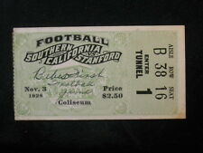 Vintage 1928 Stanford at USC Football Ticket Stub