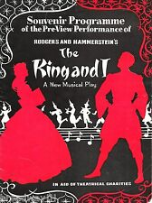 "Rodgers & Hammerstein ""KING AND I"" Valerie Hobson 1953 London Preview Program"