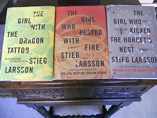 STIEG LARSSON Trilogy, 1st/1sts US,Dragon Tattoo, Played with Fire,Hornet's Nest