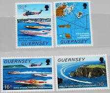 GB Guernsey 1988 426-29 390-93 Motor Boat World Cup Sports Motor Boat World Cup MNH