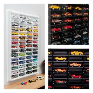 For Hot Wheels PLASTIC Display Case Matchbox Storage Cabinet Shelf Unit