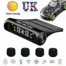 Solar Wireless TPMS Car Tire Tyre Pressure Monitoring System External 4 Sensor
