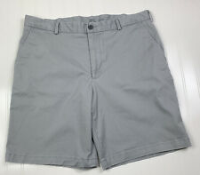 Izod Saltwater Stretch Chino Shorts Mens Size 36 9.5 Inseam Gray Pockets
