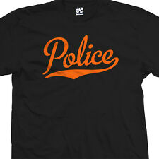 Police Script & Tail T-Shirt - Officer Academy Team Sports - All Sizes & Colors
