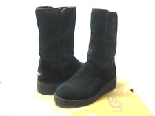 UGG AMIE WOMEN SHORT BOOTS SLIM SUEDE BLACK US 10 /UK 8.5 /EU 41