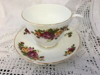 Bone China Roses Cup And Saucer