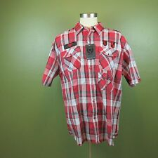 Knockout Red Plaid Shirt 3XL Men's Casual men's apparel NWT