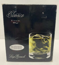 Luigi Bormioli Italy Set of 4  13.5oz Classico Double Old Fashioned Glasses