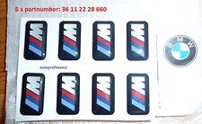 8 x GENUINE BMW M Wheel Emblem Sticker Thick Badge M1 3 5 6 X3 5 6 M Tech US