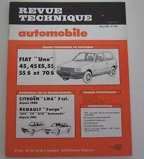 Revue technique automobile RTA 442 Fiat uno 45 45 ES 55 55S 70 S