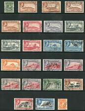 Gibraltar SG121/131 KGVI set of 14 plus perf and shade varieties Fine used