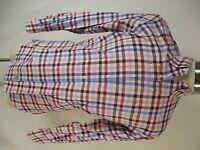 Peter Millar Mens Multicolor Plaid Long Sleeve Cotton Shirt M