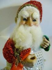 """Vintage RARE Mark Roberts 13"""" Roly Poly Santa Fairy Elf Container"""