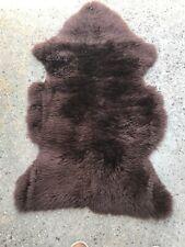 Bowron Genuine Natural Sheepskin Rug Brown   2' x 3'-  ** FREE SHIPPING USA ***