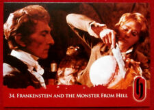 HAMMER HORROR - Series Two - FRANKENSTEIN AND THE MONSTER FROM HELL - Card #34