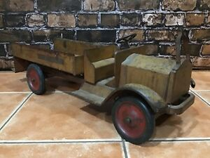 "Vintage 1920's Antique Pressed Steel KEYSTONE TOYS / FIRE DEPARTMENT TRUCK 28""s"