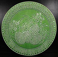 Bordallo Pinheiro Pineapple Embossed Green Platter Charger Multiples Availble