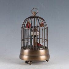 European Exquisite Brass Classical Mechanical Birds Clock