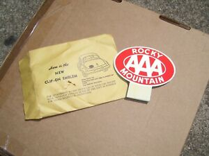 Original 1950 's- 1940s Vintage AAA auto glow emblem nos badge chevy gm Ford mgb