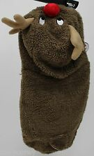 "Christmas Dog Gear Brown Reindeer w/Hood Pet Dog Coat Size XSmall 8.5"" L NWT"