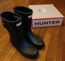 New Women's Original Short Hunter Rain Boots Black
