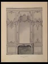 NICOLAS PINEAU, LAMBRIS 1754 - PLANCHE ARCHITECTURE 1910 -