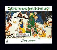ST VINCENT - 1991 - DISNEY - SNOW WHITE - DWARFS - CHRISTMAS CARD - MINT NH S/S!