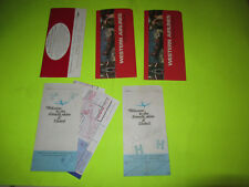 VINTAGE AIRLINE TICKET / BOARDING PASS HOLDER LOT SET UNITED WESTERN AIRLINES