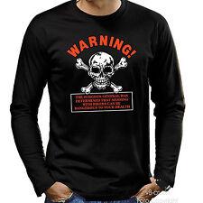 *4154 LS Biker Shirt Longsleeve Totenkopf warning Skull Motorcycle Rocker