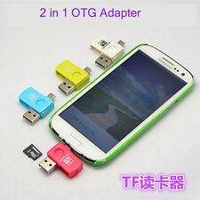 2-in-1 Micro USB2.0 OTG Adapter + Micro SD TF Card Reader for Android Phones POP