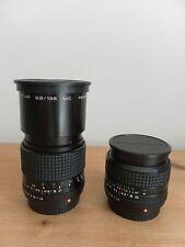 A Pair of Prakticar Multi-Coated Pentacon Lenses (2.8/135mm & 2.8/28mm) PB Mount