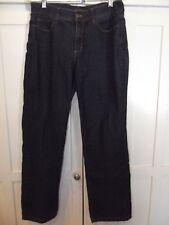 NYDJ Dark Wash Strech Jeans Emmbellished  back pockets Women's sz 8