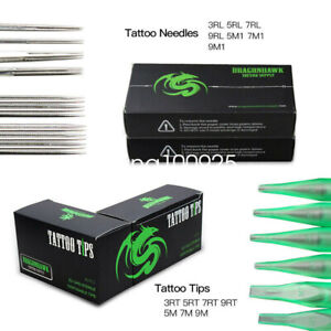 100 Pieces Mixed Tattoo Needles 100 x COUNTS OF ASSORTED TATTOO DISPOSABLE TIPS
