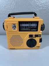 Grundig LL Bean FR200 Emergency Crank AM/FM/SW Emergency Radio Yellow/Orange