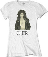 CHER Leather Jacket WOMENS GIRLIE T-SHIRT OFFICIAL MERCHANDISE