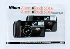 Nikon Zoom Touch 500 Instruction Manual Book