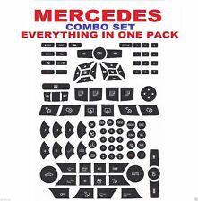 2007-2014 Mercedes Benz Repair Button Door Steering AC Window Radio Stickers