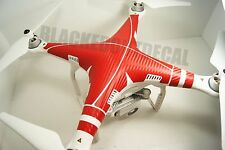 DJI Phantom 3 RED Carbon Fiber Graphic Wrap Decal Skin Vision P3 Advanced - Pro