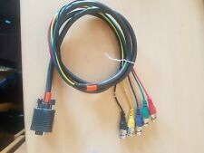 1.8m VGA Male to 5 BNC RGB & Sync Plugs CCTV Monitor Cable/Lead - DVR Video